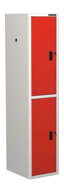 Шкаф для одежды универсальный – две ячейки (ширина секции 380 мм)