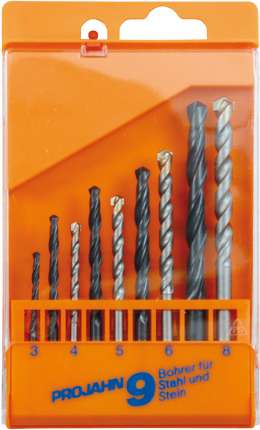 Комбинированный набор из 5 спиральных сверл