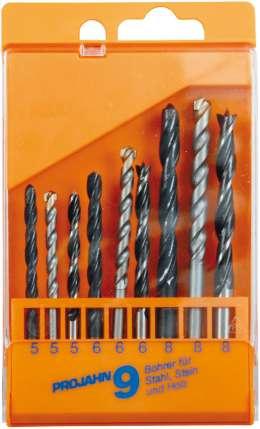 Комбинированный набор спиральных сверл