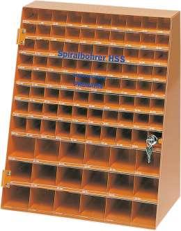 Презентационный шкаф спиральных сверл