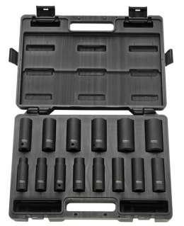 """RODCRAFT RS4114D, Набор (14 шт.) удл. ударных головок 1/2"""" 10-27мм."""
