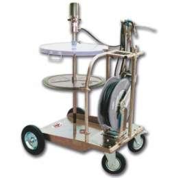 1782.ARA Тележка с пневматическим набором для нагнетания густых смазок для бочек 180-220 кг с катушкой со шлангом 15 м.